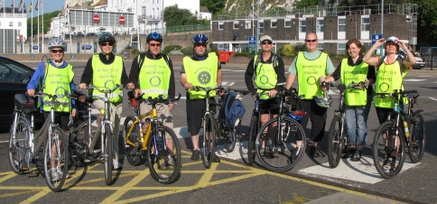 French Bike Ride Rotary Riders at Dover05.06.10