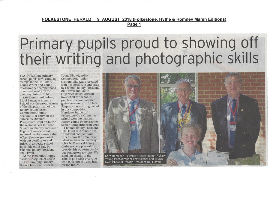 Rotary Youth Competitions Prizewinners Folkestone Herald page1 09.08.18