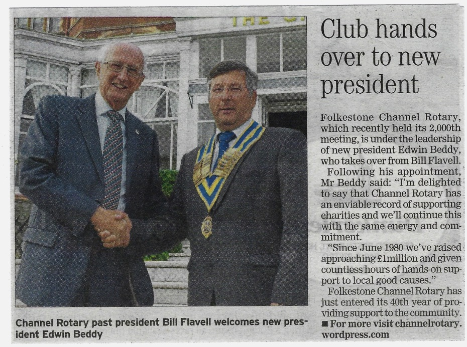 New President For Channel Rotary (Express) 17.07.19